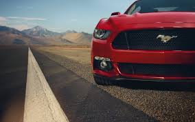ford mustang gt red muscle car desktop