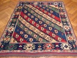 multi color kazak wool paisley square