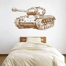 Amazon Com Ik1610 Wall Decal Sticker Tank Military Equipment Us Army Children S Bedroom Kitchen Dining
