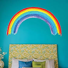 Amazon Com Roommates Decor Kids Room Nursery Over The Rainbow Giant Wall Decals Home Kitchen