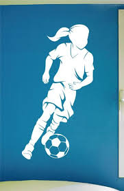 Girls Soccer Wall Decal 0292 Soccer Theme Decal Sports Decal D Wall Decal Studios Com