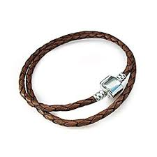 double braided leather sterling silver