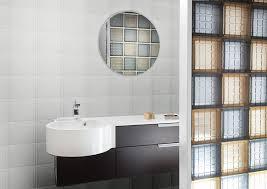mosaic glass tile block bathroom