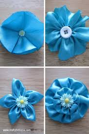 4 easy ways to make fabric flowers