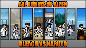 All Aizen Forms - Bleach Vs Naruto 3.3 (Modded) - YouTube