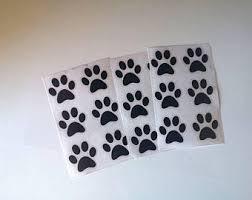 Paw Print Stickers Etsy