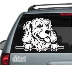 Golden Retriever Car Decals Stickers Decal Junky