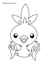 Pokemon Coloring Pages Torchic