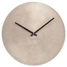 starburst wall clock antique silver