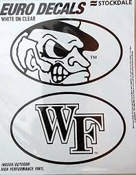 Amazon Com Wake Forest Demon Deacons 2 Pack Euro Style Vinyl Oval Home Auto Decals Sticker University Of Sports Outdoors