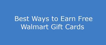 11 ways to get free walmart gift cards