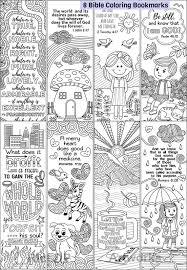 Set Van 8 Bijbel Kleurplaten Bookmarks Schattige Christelijke Etsy