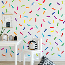 Rainbow Sprinkles Wall Stickers Confetti Wall Decals Sprinkle Wall Dec