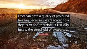 "stephen levine quote ""grief can have a quality of profound"