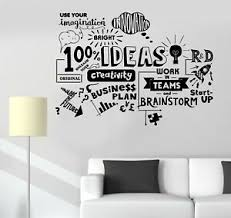 Wall Decal Words Office Work Creativity Team Vinyl Sticker Ed1864 Ebay