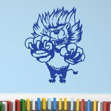 Cartoon Jumping Lion Wall Sticker Decal World Of Wall Stickers