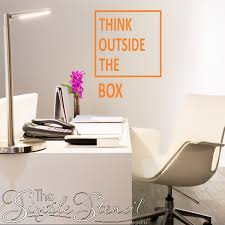 Think Outside The Box Inspirational Creative Wall Window Decal Stickers