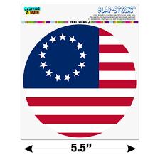 Betsy Ross 1776 American Flag Automotive Car Window Locker Circle Bumper Sticker Walmart Com Walmart Com