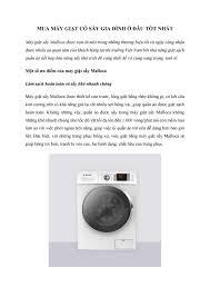 Mua máy giặt có sấy gia đình ở đâu tốt nhất by thanhthanh5955 - issuu