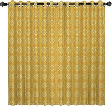 Amazon Com Blackout Curtains Kids Room Darkening Curtains Yellow Morocco Flower Patterned 52 W By 36 L Thermal Insulated Grommet Top Window Curtains For Bedroom Home Kitchen
