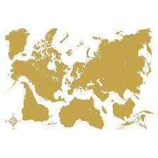 Shop Gold Map Wall Decal Overstock 29901319