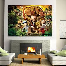 Lego Indiana Jones Block Giant Wall Art Poster