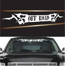 Off Road Tribal Custom Auto Decal Windshield Banner Topchoicedecals