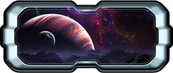 24 Spacescape Instant Star Ship Space Ship Window View Jupiter Moons 1 Wall Sticker Decal Graphic Art Mural Kids Game Man Cave Room Decor New On Star Wars