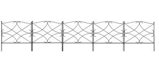 Amagabeli Decorative Garden Fence 24in X 10ft Outdoor Rustproof Metal Landscape Wire Fencing Folding Garden Fence Panels Decorative Garden Fencing Patio Fence