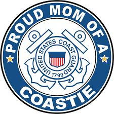 Proud Mom Of A Coastie U S Coast Guard Round Decal
