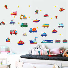 Sweet Home Train Car Truck Helicopter Bus Removable Wall Sticker Decal Boy Kids Room Decor Home Decoration Wall Paper Decorative Wall Paper Wall Stickerremovable Wall Stickers Aliexpress