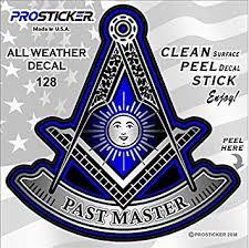 Amazon Com Prosticker 128v One Masonic Series Past Master Freemason Compass Decal Sticker 4 Automotive