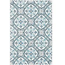 medallion blue round rug pier 1 imports
