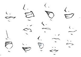 how to draw an anime mouth easy to draw