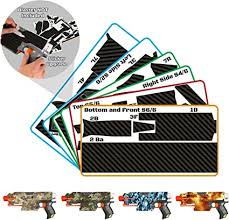Amazon Com Blastr Wrapz Gun Not Included Sticker Decals Fits Elite Nerf Stryfe 1 Pack Custom Toy Blaster Vinyl Skin Upgrade Mod Kids Teens Adults Carbon Fiber Toys Games