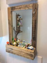 rustic bathroom mirror made from