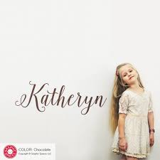 Girl S Name Wall Decal Calligraphy Script Personalized Lettering Graphic Spaces
