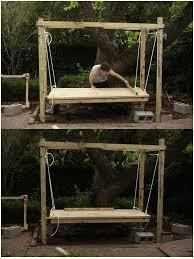 easy diy outdoor swing bed