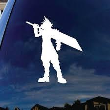 Cloud Cartoon Character Buster Sword Car Window Vinyl Decal Sticker 7 Tall