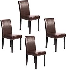 Amazon Com Dining Chairs Dining Room Chairs Parsons Chair Kitchen Chairs Set Of 4 Dining Chairs Side Chairs For Home Kitchen Living Room Chairs