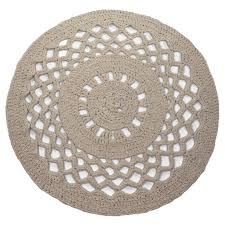 hoooked ribbonxl crochet round rug