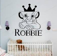The Lion King Wall Decal Cartoon Vinyl Wall Sticker Simba Lion Kids Room Wall Decor Removable Art Mural Hj835 Buy At The Price Of 8 98 In Aliexpress Com Imall Com