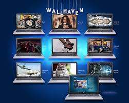 laptop wallhaven blue background