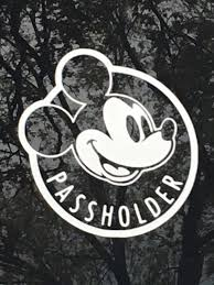 Disney Annual Passholder Pass Holder Vinyl Car Decal Etsy