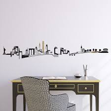 Ny Skyline Wall Decal For Baby S Room Above Crib Wall Decals Wall Decals For Bedroom Wall Stickers New York
