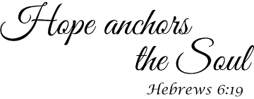 Buy Wall Decal Quote Hebrews 6 19 Hope Anchors The Soul Bible Verse Wall Decal Decor Sign In Cheap Price On Alibaba Com