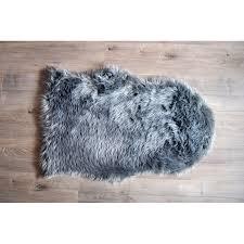 kroma carpets faux sheepskin gray area