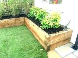 railroad tie garden bed oad tie garden