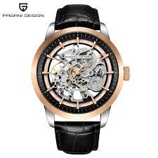 men skeleton automatic mechanical watch