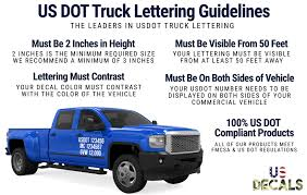 Us Dot Truck Lettering Guidelines Us Decals